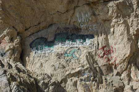 Graffiti at Walker Lake, NV