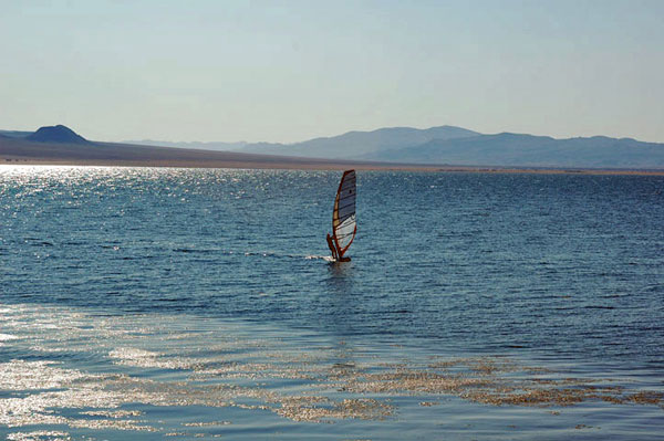 Wind surfer at Walker Lake, NV
