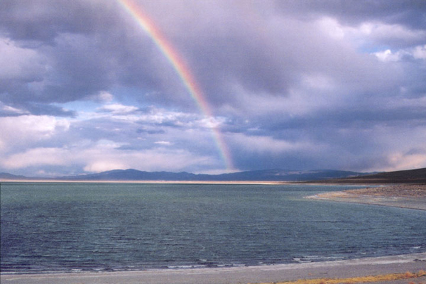 Rainbow at Walker Lake, NV